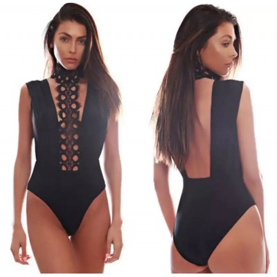 'Abigail' black bodysuit