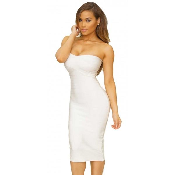 Witte jurk tot knie
