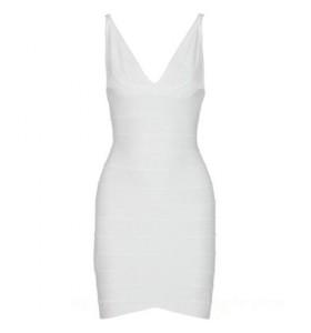 Ari perfecte witte bandage jurk