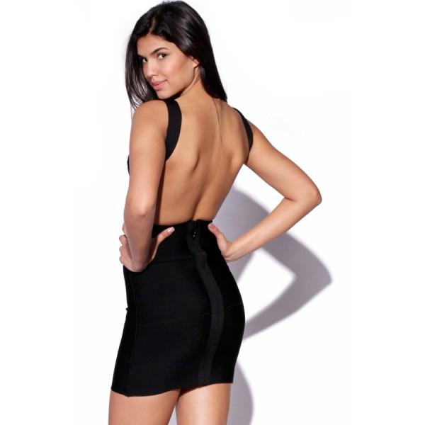 Schone Schwarze Bandage Kleid Mit Offenem Rucken