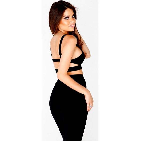 Kayla two piece black bodycon dress