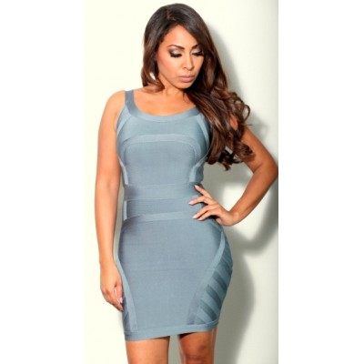 'Akaya 'grey bodycon bandage dress