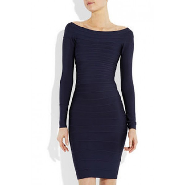 Blue Boatneck Dress