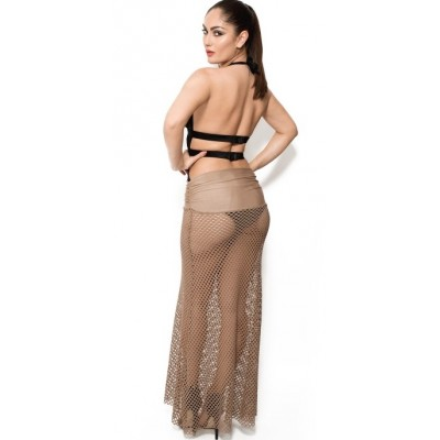 'Camilla' fishnet beach dress/ beach skirt