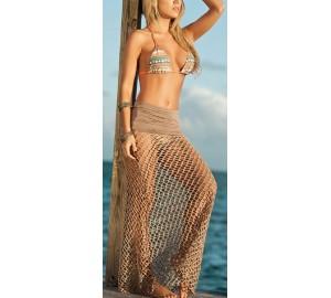 'Camilla' fishnet strandjurk/ strandrok