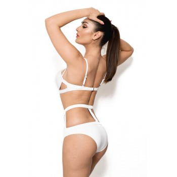 'Carolina' witte strappy cut out bikini