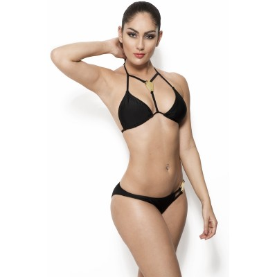 'Irina' black bikini with gold details