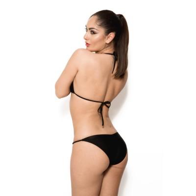 'Irina'  zwarte bikini met gouden details