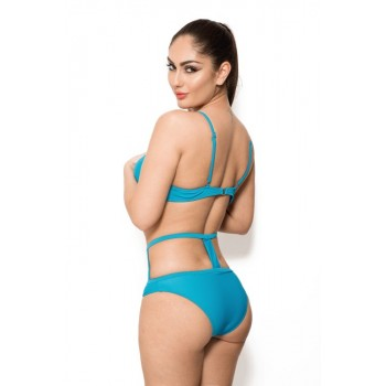'Carolina' turquoise cut out bikini