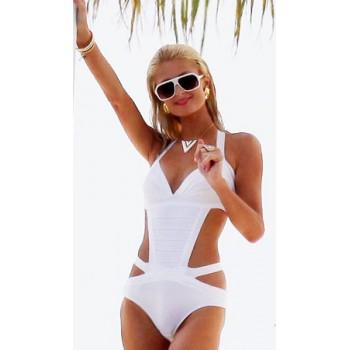 'Paris' White bandage bikini