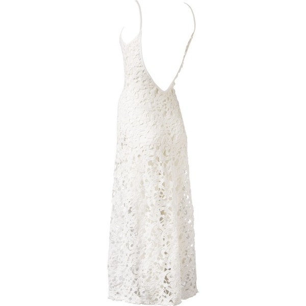 strand jurk wit