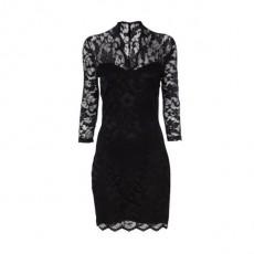 'Ashley' Black Bodycon lace dres..