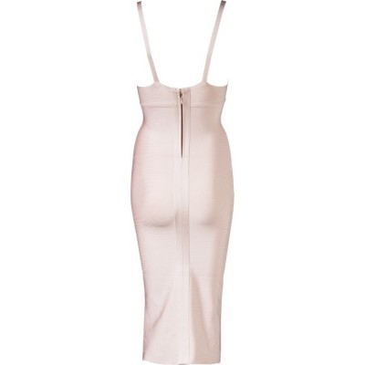 'Jhene' Nude  midi bandage dress