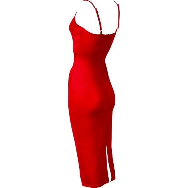 Rode jurk v hals