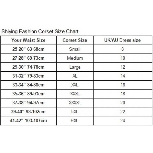 Steel boned waist training corset with 24 steel boning