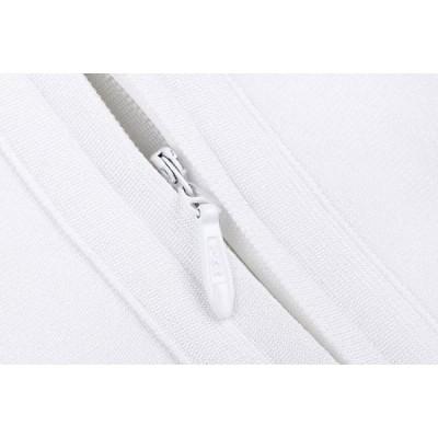 White backless peplum bandage dress
