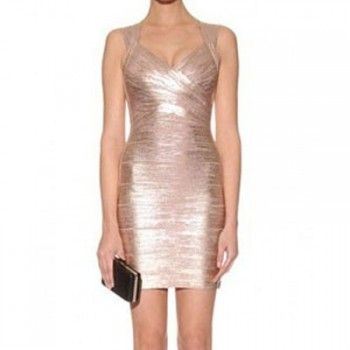 Gouden bandage jurk