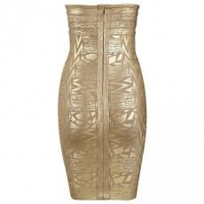 Diamond queen bandage dress gold