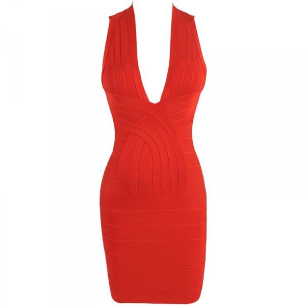 Kleid rot v aubchnitt