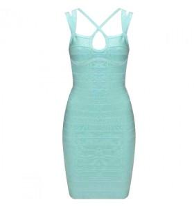 'Malina' lichtblauwe bandage jurk
