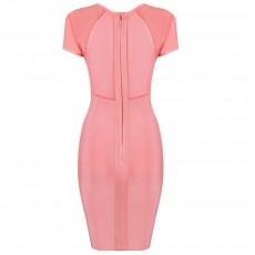 'Jane' pink bodycon bandage dres..