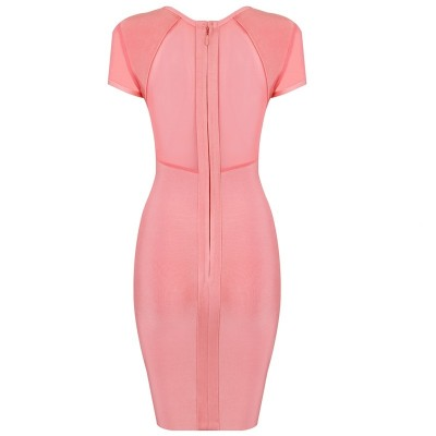 'Jane' pink bodycon bandage dress