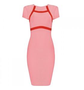 'Jane' pink bodycon bandage dress