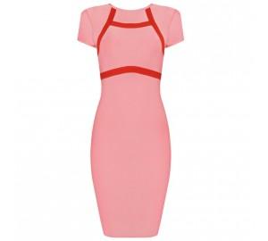 'Jane' roze bandage jurk