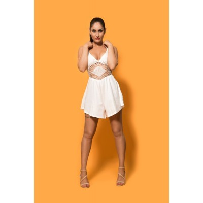 'Alicia' white playsuit / dress with cut out