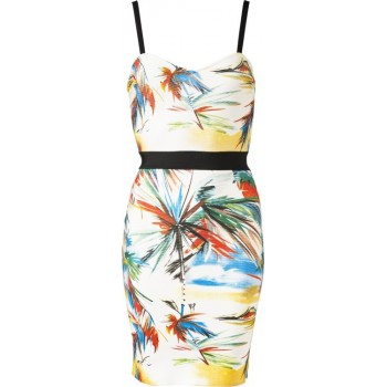 'Aaliyah 'bandage dress with tropical print
