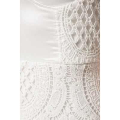 'Aisha' white lace bandage dress