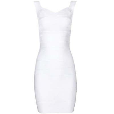 'Christina' white backless bandage dress