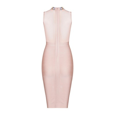 'Amra' nude bandage dresses with crystals