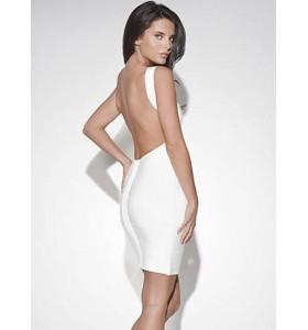 'Christina' white backless bandage dress