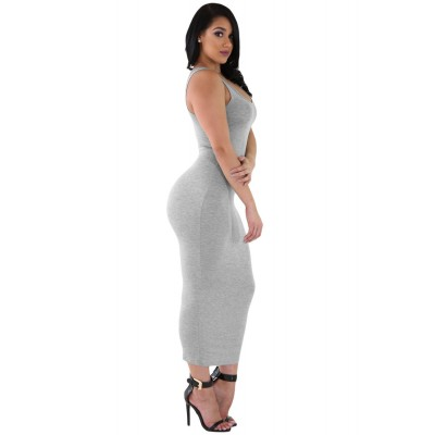 'Aaruchi' grey maxi dress