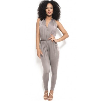 'Ainoa' grey backless jumpsuit