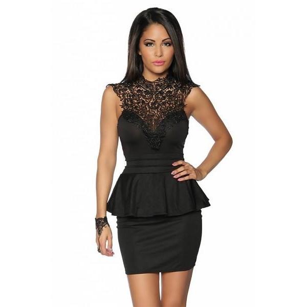 festliche Schößchen-Kleid mit Spitze