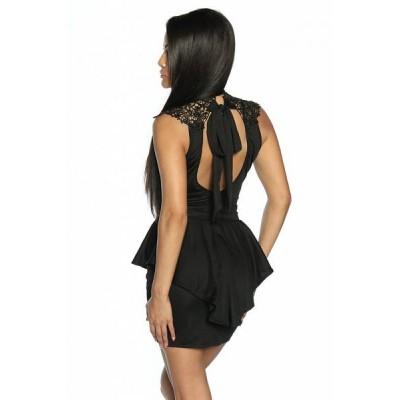 Elegant peplum dress with lace