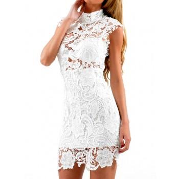 wit kanten jurkje