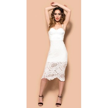 c8e0e9084869d2 With these Lady Habits dresses you will be sure that you are the centre of  attention  Aisha white lace bandage dress